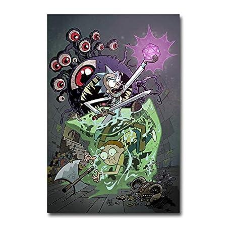 NOVELOVE Cuadro de Arte de pareds Rick and Morty TV Series ...
