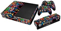 TST? Designer Skin Sticker for Xbox One Console with Two Free Wireless Controller Decals- Superheroes