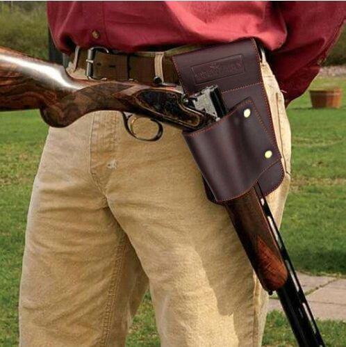 Tourbon Vintage braun Leder Hip Scheide Taille G/ürtel Holster f/ür Shotgun Gewehr