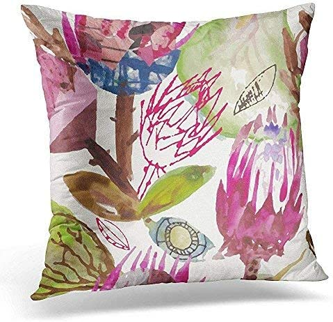 Amazon Com Fhdang Decor Lovely Fashion Funny Throw Pillows Cover Cases Protea African Pattern Cape Town Fynbos Decorative Cushion Pillowcases Square Christmas Wedding Anniversary Romantic Gifts Home Kitchen