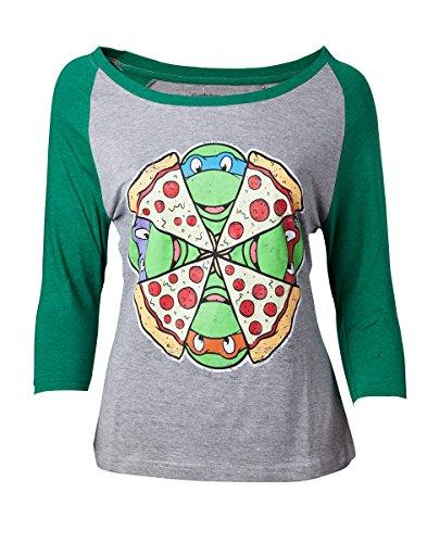 Ninja Turtles - Vrouwelijke Raglan T-Shirt - Maat XL