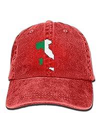 rouqianshangmao Italia Italy Italian Map Mens&Womens Vintage Style Classic Outdoor Cap Baseball Cap