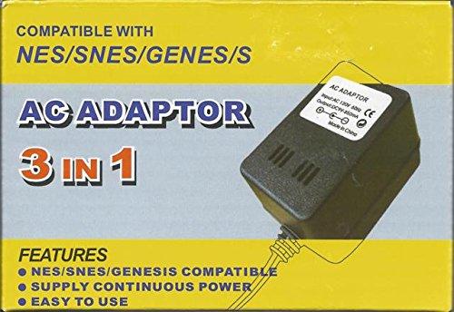 3 in 1 AC Adaptor - Nintendo, Super Nintendo, Genesis - Super Nintendo Original Console