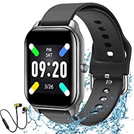 Smart Watch Fitness Tracker with IP67 Waterproof Heart Rate Monitor Pedometer and Sleep Monitor,for iOS and Android…