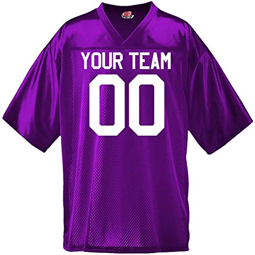 Custom Football Jersey for Youth and Adult You Design Online in Adult 2X-Large in Purple - Mesh Midweight Jersey