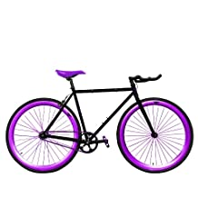 Zycle Fix ZF-GSOD-59 Grape Soda Fixed Gear Bike, 59cm/One Size Frame