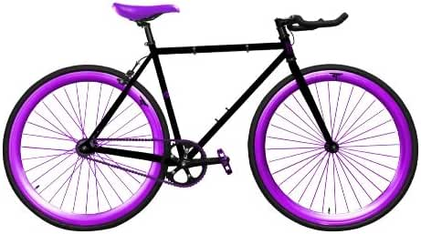 Zycle Fix ZF-GSOD-55 Grape Soda Fixed Gear Bike, 55cm/One Size Frame