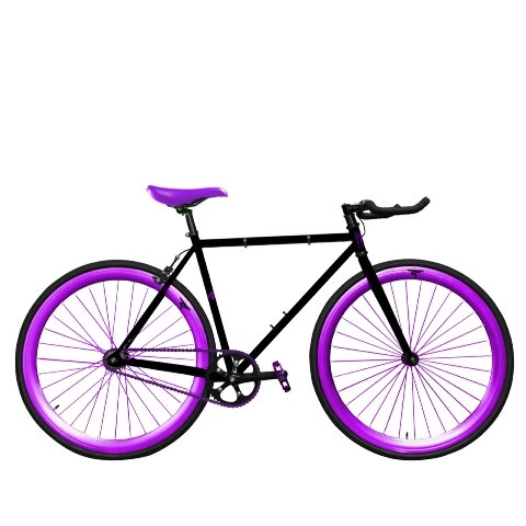 Zycle Fix ZF-GSOD-52 Grape Soda Fixed Gear Bike, 52cm/One Size Frame