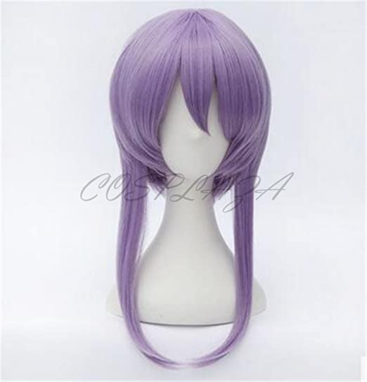 Amazon.com: COSPLAZA Anime Cosplay Wigs Braided Purple Hair Halloween Synthetic Wig: Health & Personal Care