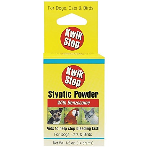 Miracle Care – Kwik Stop Styptic Powder Helps Stop Bleeding, First Aid for Dogs, Cats and Birds – 0.5 oz