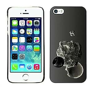 Caucho caso de Shell duro de la cubierta de accesorios de protección BY RAYDREAMMM - Apple iPhone 5 / 5S - Abstract Drop