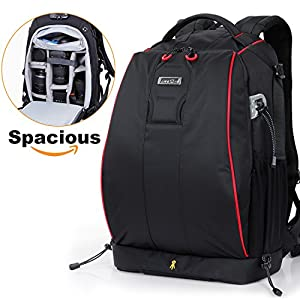 Lifewit DSLR Camera Backpack Bag Anti-theft Water Resistant MultiPurpose TSA Daypack withTablet Compartment and Photography Accessories Insert