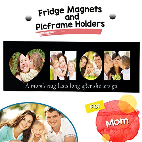 MOM's Fridge Magnets - Magnetic Picture Frame - Picframe Holder Mom Photos. Personalised Decorative Custom Frames Pictures, Portraits More! Funny Photo Ideas! ()