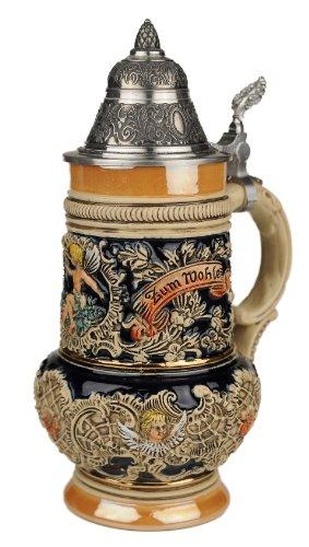 Beer Stein by King - Thewalt 1894 Rokoko Angel Relief German Beer Stein (Beer Mug) 0.5l Limited by KING