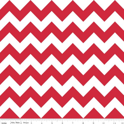 Chevron Stripe Red Flannel Fabric SKU F320-80 Riley Blake Designs