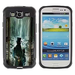 Suave TPU GEL Carcasa Funda Silicona Blando Estuche Caso de protección (para) Samsung Galaxy S3 III I9300 / CECELL Phone case / / Green Library Mysterious Kids /