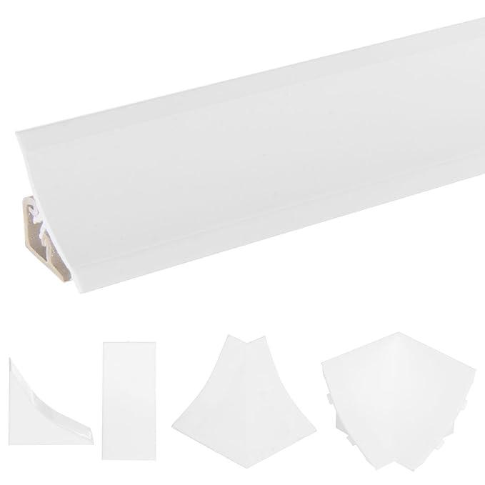 HOLZBRINK Copete de Encimera Blanco Embellecedor de Remate PVC Listón de Encimeras 23x23 mm 150 cm: Amazon.es: Bricolaje y herramientas