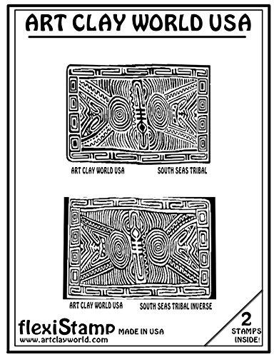 Flexistamps Texture Sheet Set South Seas Tribal (Including South Seas Tribal and South Seas Tribal Inverse)- 2 Pc. by FlexiStamp (Image #1)