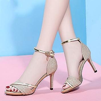Jqdyl High Heels Sandalen Frauen rau mit Sommer neue wilde weibliche Schuhe Damen mit High Heels