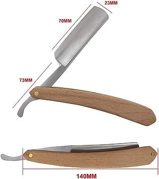 Straight Edge Razor Afeitadora de afeitar plegable Afeitadora ...