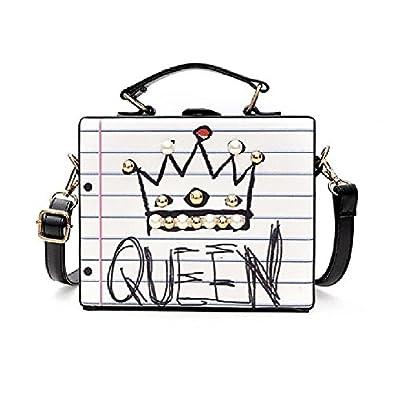ASDS Fashion letter diamonds pearl rivet box shape casual female handbag