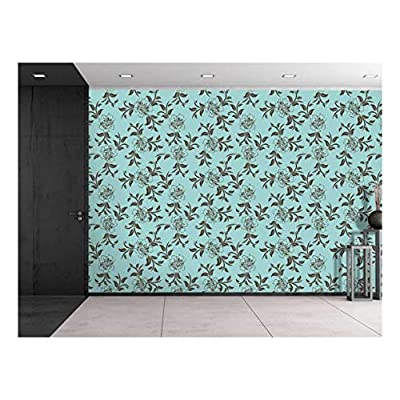 Large Wall Mural Seamless Floral Pattern Vinyl Wallpaper Removable Decorating, Quality Creation, Alluring Work of Art