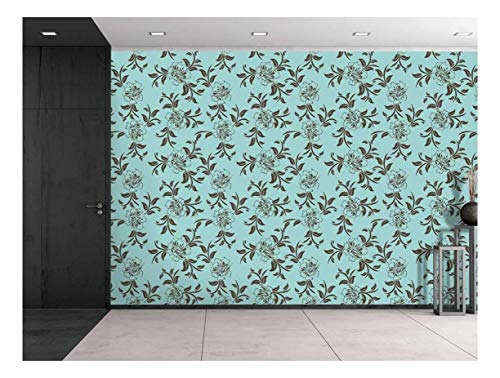 Large Wall Mural Seamless Floral Pattern Vinyl Wallpaper Removable Decorating