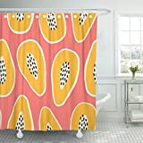 Pink and Cream Shower Curtains Emvency 66