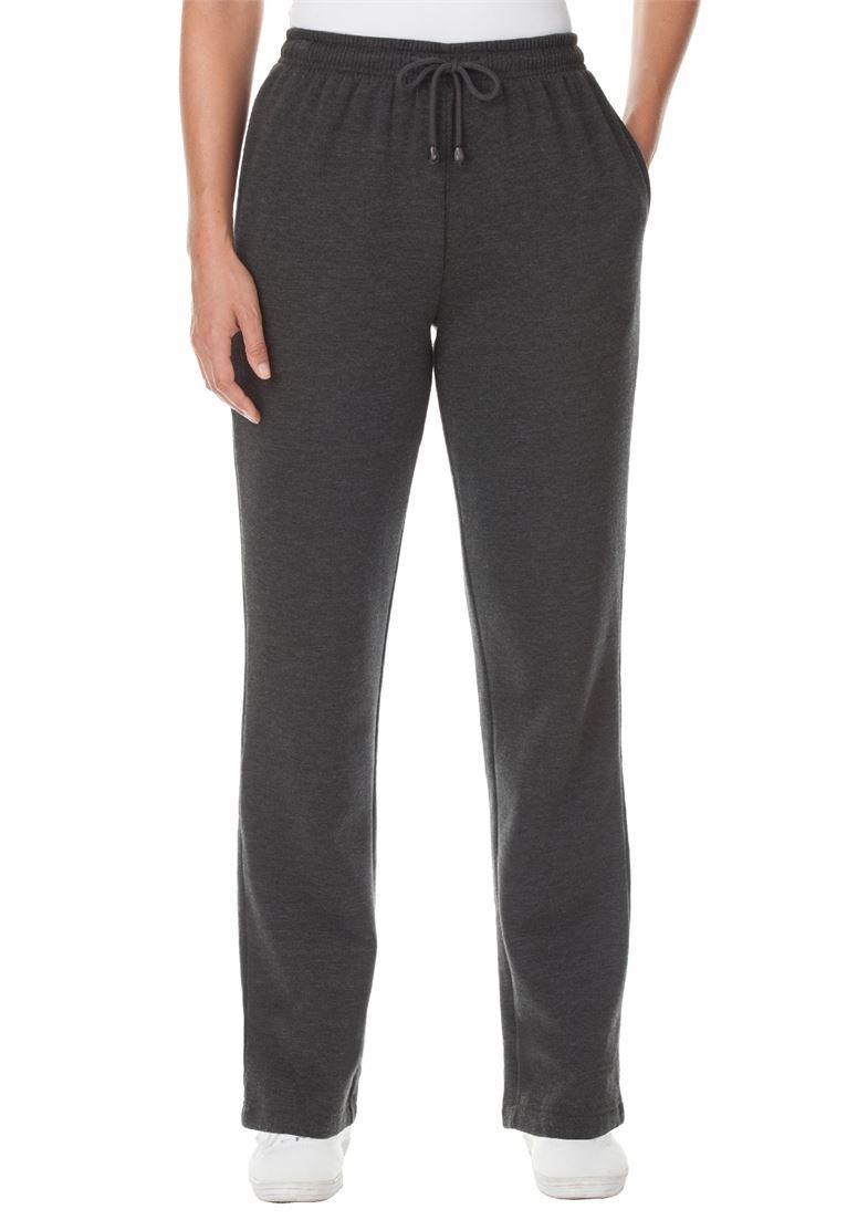 Women's Plus Size Better Fleece Sweatpants Heather Charcoal,3X