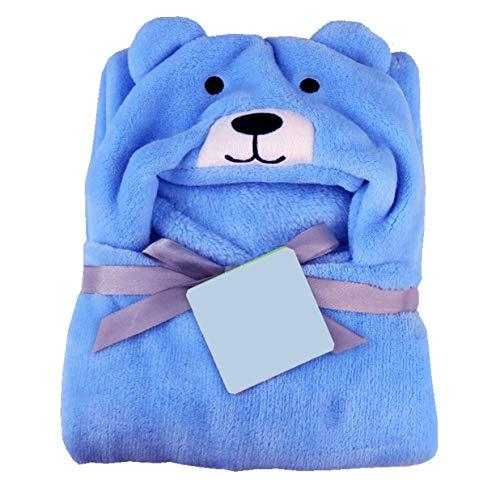 My Newborn Super Soft Blanket Cum Wrapper for Babies (FiroziSky-Puppy)