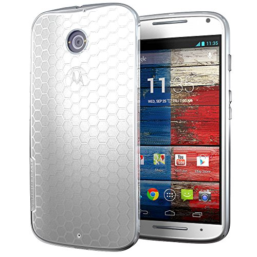 Matte Frost Combs - Hyperion Motorola Moto X Gen 2 2014 (XT 1097) HoneyComb Matte TPU Case / Cover (Fits Standard Size Battery) [2 Year No Hassle Warranty] (CASE ONLY. Does not include battery or phone) NOT compatible with Moto X Gen 1 **Hyperion Retail Packaging** - FROST