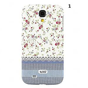 LZX Blue Base Lace Series Flower Pattern Relief Back Case for Samsung Galaxy S4 i9500(Assorted Color) , 3