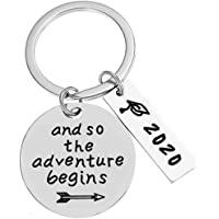 Jude Jewelers Stainless Steel Class 2020 Graduation Inspirational Mantra Keychain Pendant Necklace