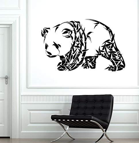 suuyar Oso Panda Etiqueta De La Pared Adorno Animal Lindo Etiqueta De La Pared Bamboo Panda R Mural De La Pared Home Living...