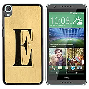 FlareStar Colour Printing E Letter Every Elena Ellie Parchment cáscara Funda Case Caso de plástico para HTC Desire 820