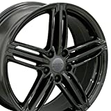 #3: 18x8 Wheels Fit Audi, Volkswagen - Audi RS6 Style Black Rims - SET