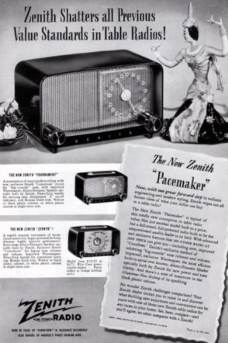 Zenith Pacemaker Radios Vintage Ad - 1960's (Table for sale  Delivered anywhere in Canada