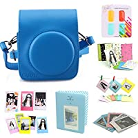 CAIUL Fujifilm Instax Mini 70 Case Accessories Bundle Blue ( 8 Items )