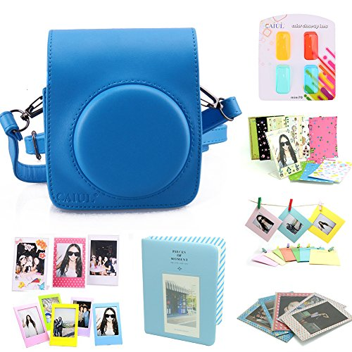 CAIUL Compatible Mini 70 Camera Case Bundle with Album, Filters & Other Accessories for Fujifilm Instax Mini 70 (Blue, 8 Items)