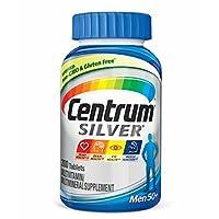 Centrum Silver Men (200 unidades) Tableta de suplemento multivitamínico /multimineral, vitamina D3, 50 años o más