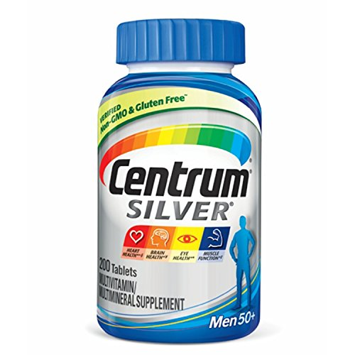 Centrum Silver Men (200 Count) Multivitamin / Multimineral Supplement Tablet, Vitamin D3, Age 50 and (50 Plus Formula Tablets)