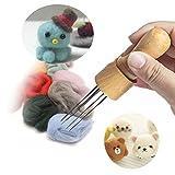 DIY Eight Felting Needles tool Craft Wool Felt Stitch Punch Tool with Solid wood handle Felting more efficient (Felt Stitch Punch Tool with Solid wood handle)