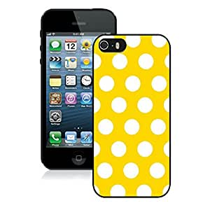 BINGO good review Polka Dot Yellow and White iPhone 5 5S Case Black Cover