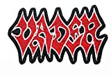 Music V Death Metal Band Band Music Logo Patch Embroidered Sew Iron On Patches Badge Bags Hat Jeans Shoes T-Shirt Applique