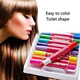 Hair Chalk, Leegoal Temporary Hair Color Set with 12 Colorful Pens for All Hair Colours, Non Toxic and Washable Instant Hair Dye for Woman/Girls/Kids, Perfect Birthday Present Gifts