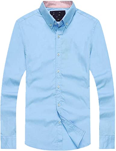 N\P Camisas de hombre de manga larga casual camisa Tops ...