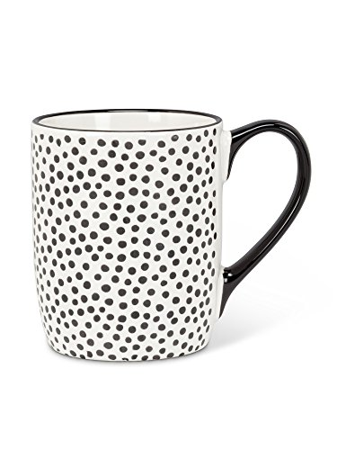 Abbott Collection 27-Domino Black and White Random Dot Mug