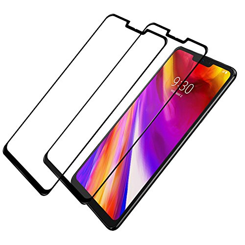 new style 1b3b5 03374 LG G7 ThinQ Screen Protector Full Coverage, 2 Pack Niyattn Tempered ...