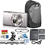 Canon PowerShot ELPH 190/IXUS 190 Digital Camera Essentials Bundle (Silver)