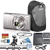 Canon PowerShot ELPH 180/IXUS 185 Digital Camera Bundle (Advanced, Silver)